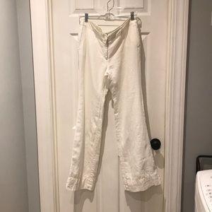 LOFT Marisa wide leg linen pants Size 8